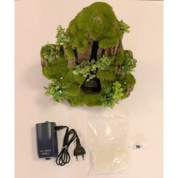 Aqua d'ella Akvarium Vattenfall Moss Rock 1 utlopp Small 234/434 Grön