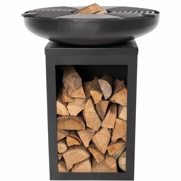 BBGRILL Grill med stekhäll Matanzas stål matt svart Svart