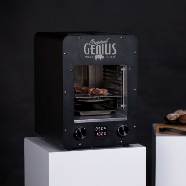 BBGRILL Portabel ugn Genius 19x18,5x30cm rostfritt stål svart Svart