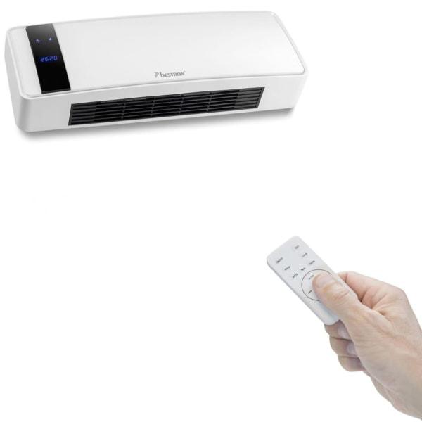 Bestron Väggmonterad värmefläkt med fjärrkontroll Vit