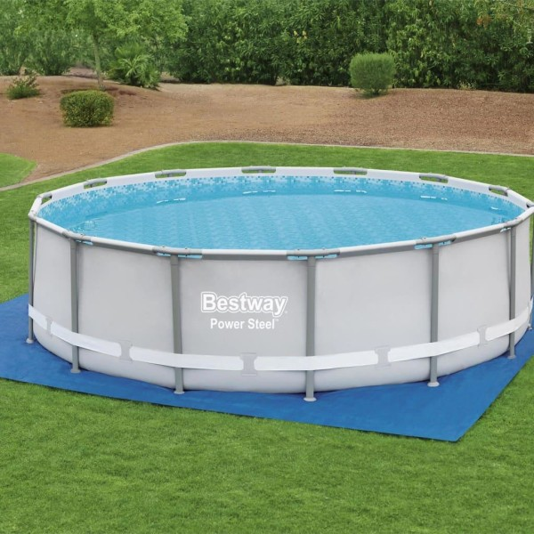 Bestway Markduk för pool Flowclear 488x488 cm Blå