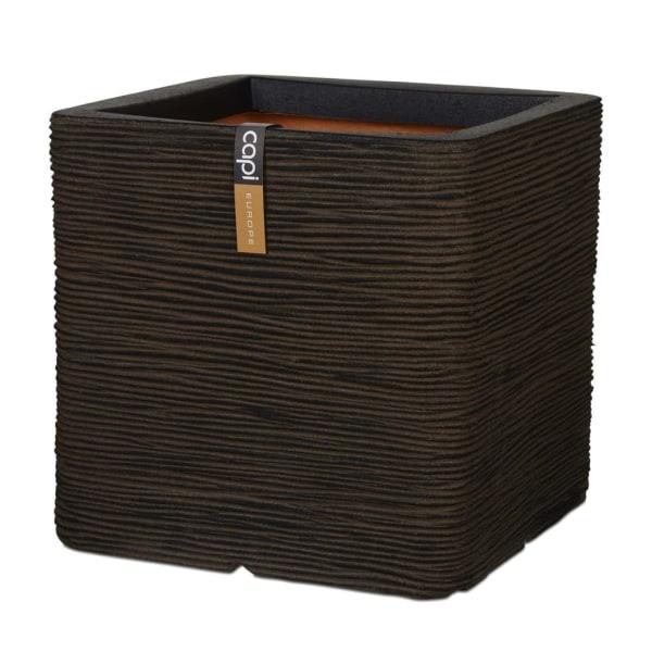 Capi Blomkruka Nature Rib fyrkantig 50x50 cm brun Brun