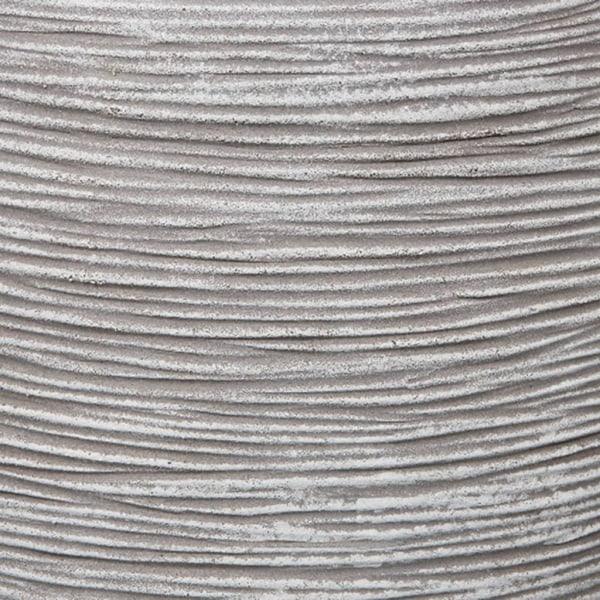 Capi Vas Nature Rib elegant låg 36x47 cm elfenben KOFI782 Vit