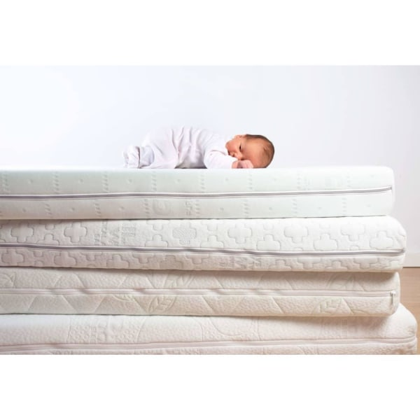 CHILDHOME Bäddmadrass Duo Kokos Natural Safe Sleeper 120x60x12 c Vit