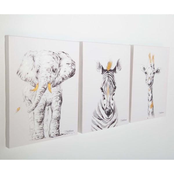 CHILDHOME Oljemålning 30x40cm elefant Vit