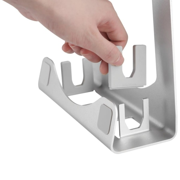 DESQ Laptopställ 23x20,5x7,3 cm aluminium Silver