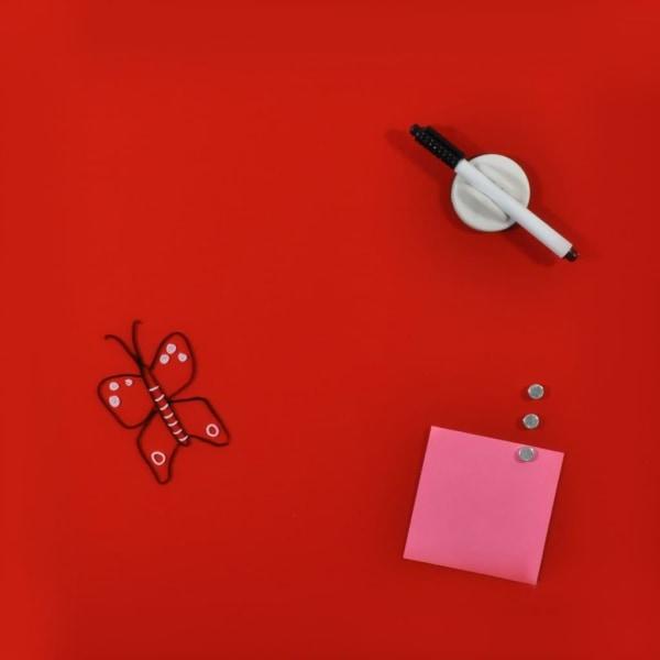 DESQ Magnetisk glastavla 45x45 cm röd Röd