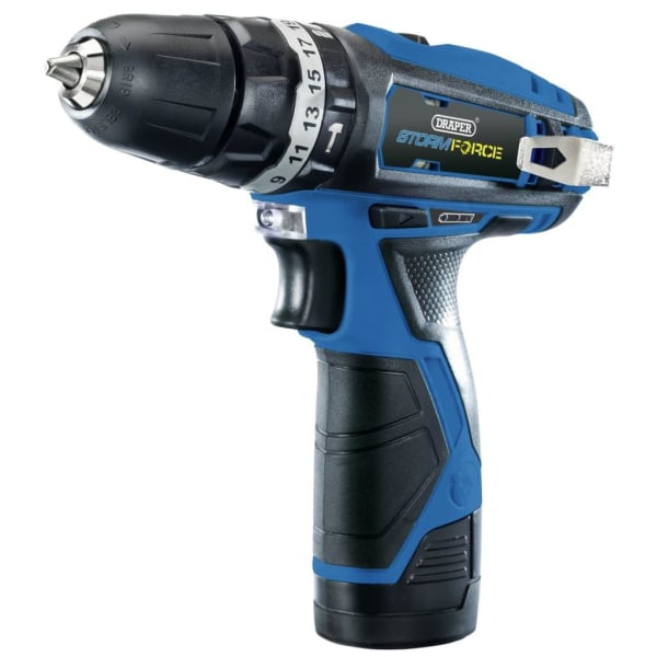Draper Tools Borrmaskin med 2 x 1,5Ah batteri Storm Force 10,8V