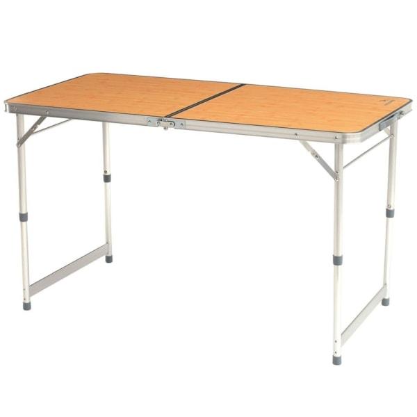 Easy Camp Hopfällbart bord Arzon bambu 120x60x70 cm 540015 Brun