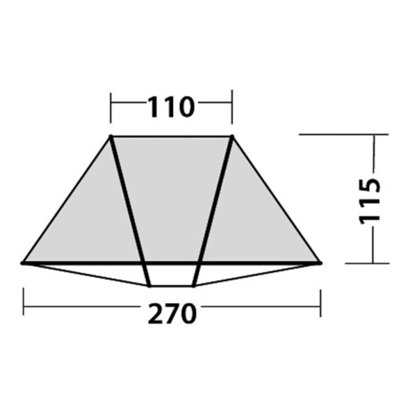 Easy Camp Strandtält Beach grå/blå 120297 Flerfärgsdesign