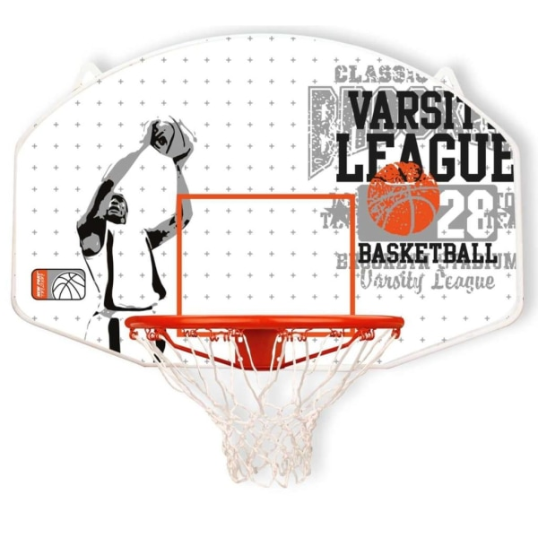 New Port Basketkorg med ring fiberglas 16NY-WGO-Uni Vit