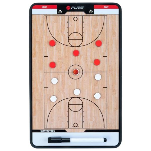 Pure2Improve Dubbelsidig taktikplatta för basket 35x22 cm P2I100 Beige