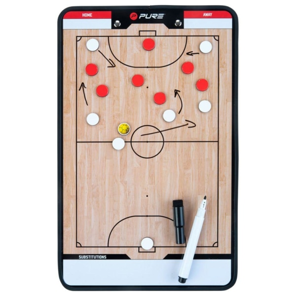 Pure2Improve Dubbelsidig taktikplatta för futsal 35x22 cm P2I100 Beige