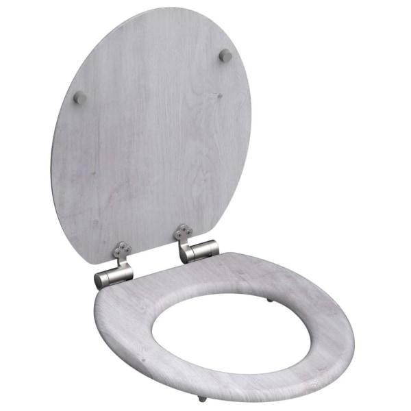 SCHÜTTE Toalettsits med mjuk stängning LIGHT WOOD MDF Grå
