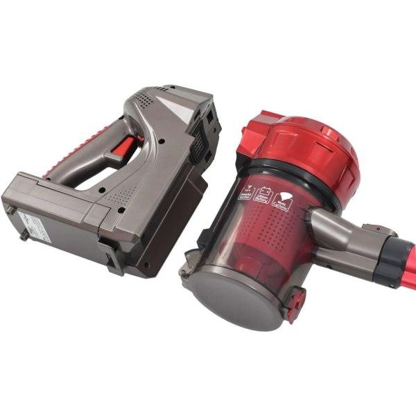 vidaXL 2-i-1-handdammsugare sladdlös multicyklon 120 W röd Röd