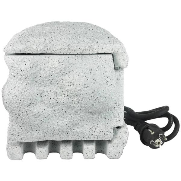 vidaXL Eluttag i form av en sten med fjärrkontroll Vit