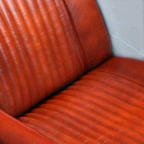 vidaXL Fåtölj ljusbrun äkta läder Brun