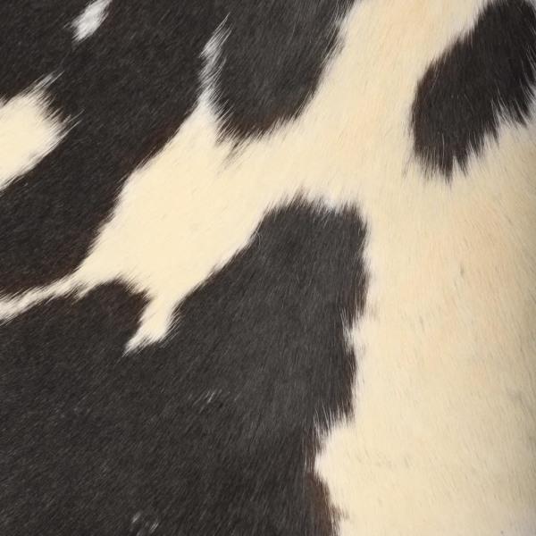 vidaXL Fladdermusfåtölj svart och vit äkta getskinn Svart