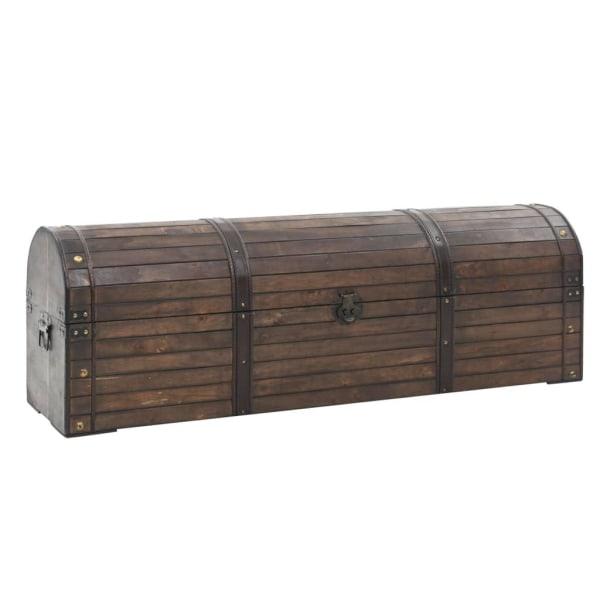vidaXL Förvaringskista massivt trä vintagestil 120x30x40 cm Brun