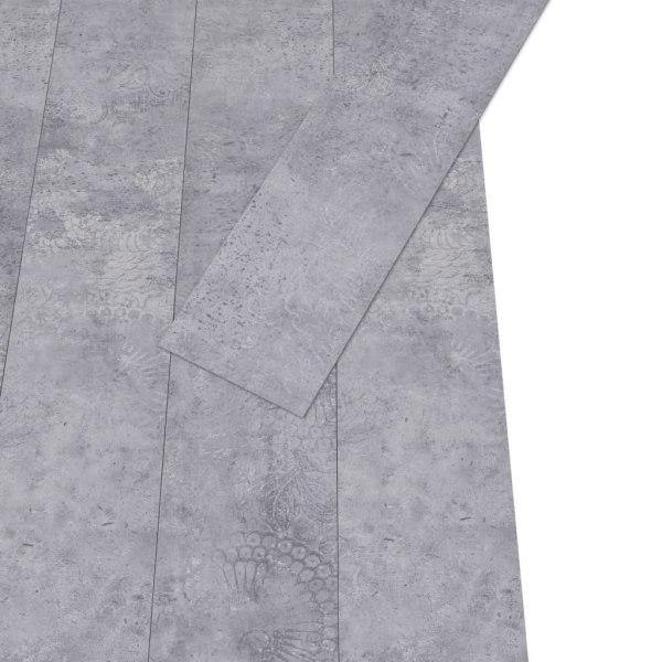 vidaXL Golvbrädor PVC 4,46 m² 3 mm självhäftande cementgrå Grå