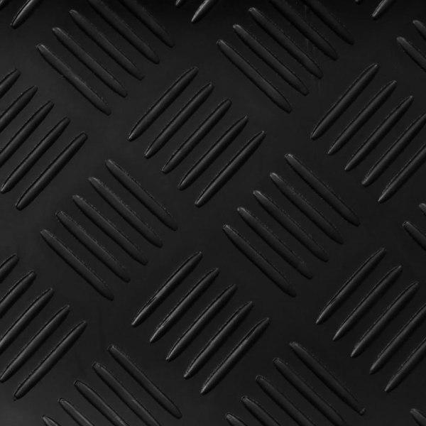 vidaXL Halkfri matta 1,5x4 m 3 mm durkmönster Svart