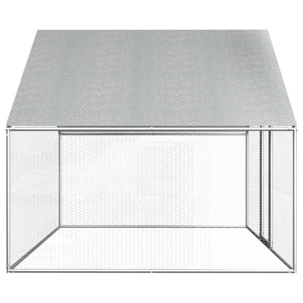 vidaXL Hönsbur för utomhusbruk 2,75x2x1,92 m galvaniserat stål Silver