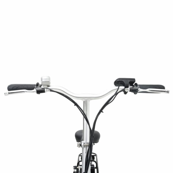 vidaXL Ihopfällbar elektrisk cykel med litium-jon batteri och al Svart