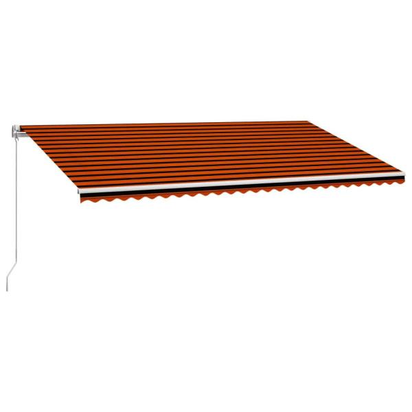 vidaXL Markis manuellt infällbar 600x300 cm orange och brun Orange