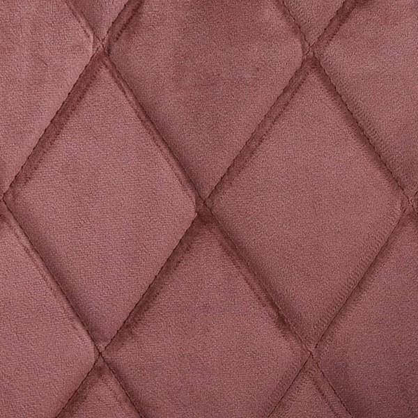 vidaXL Matstolar 6 st rosa sammet Rosa