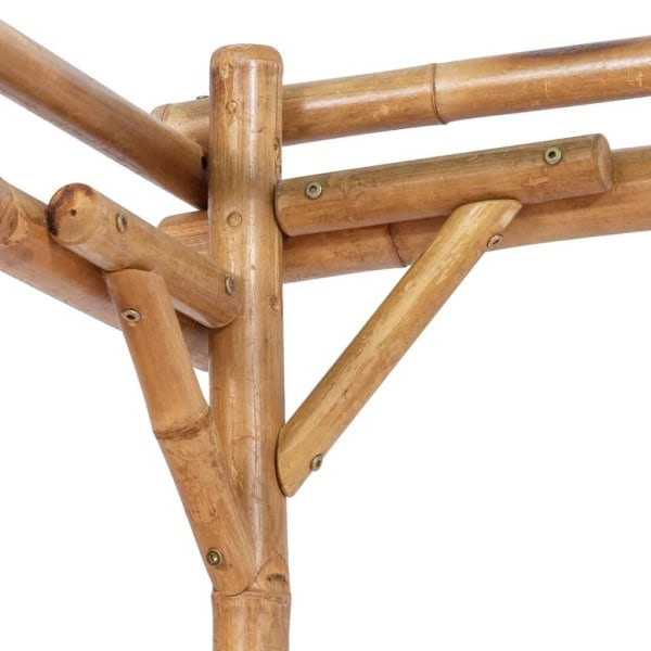 vidaXL Pergola bambu 170x170x220 cm Brun