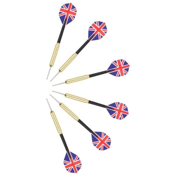 vidaXL Professionell darttavla sisal med skåp och 6 pilar Flerfärgsdesign