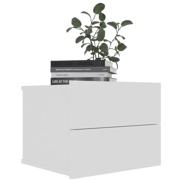 vidaXL Sängbord 2 st vit 40x30x30 cm spånskiva Vit