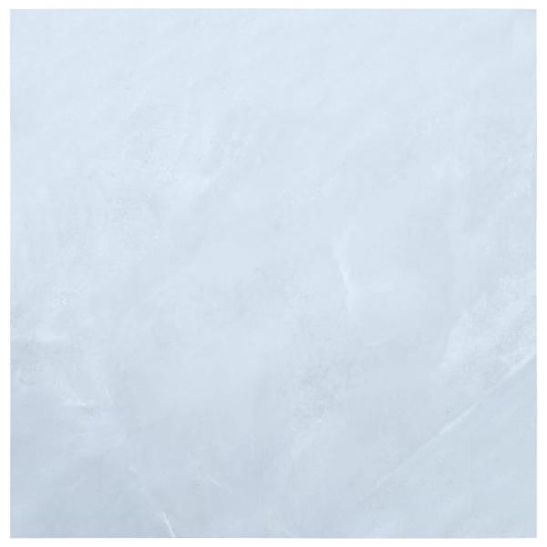 vidaXL Självhäftande golvplankor 5,11 m² PVC vit marmor Vit