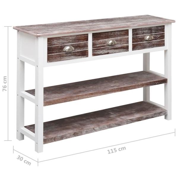 vidaXL Skänk antikbrun 115x30x76 cm trä Brun