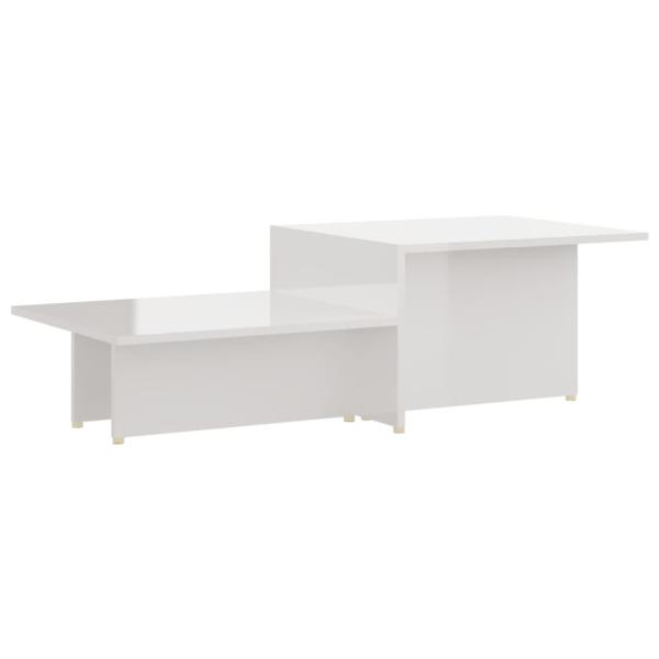 vidaXL Soffbord vit högglans 111,5x50x33 cm spånskiva Vit