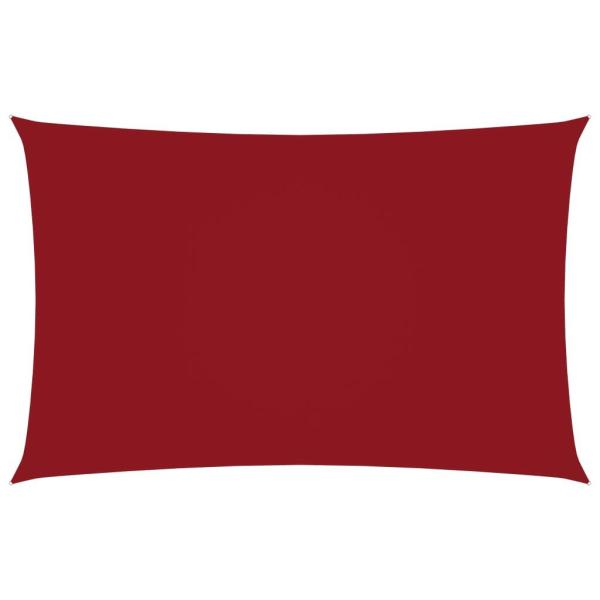 vidaXL Solsegel oxfordtyg rektangulärt 2,5x5 m röd Röd