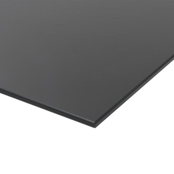 vidaXL Svarta tavlan magnetisk väggmonterad glas 60x40 cm Svart