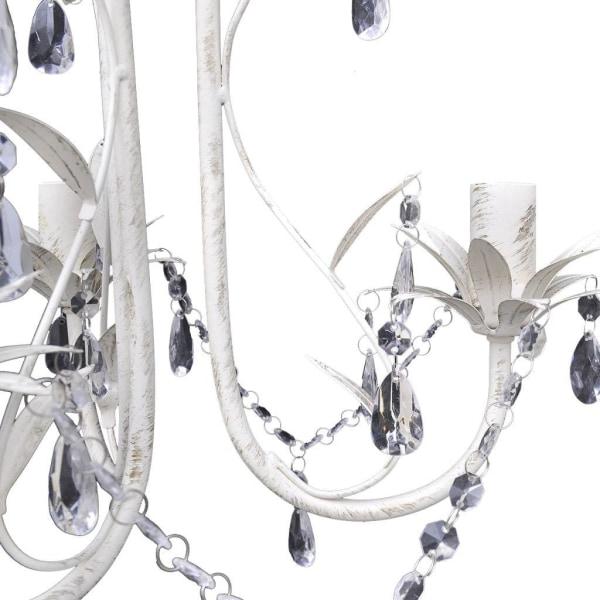 vidaXL Takkrona kristall och vit Vit