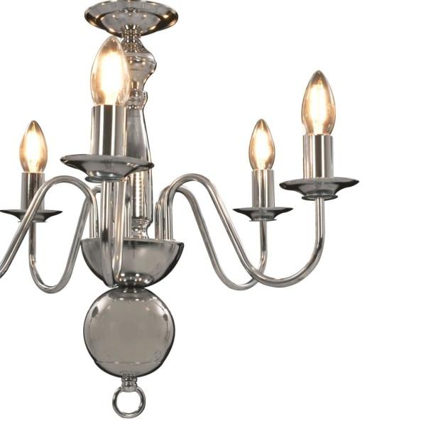 vidaXL Takkrona silver 5 x E14-glödlampor Silver