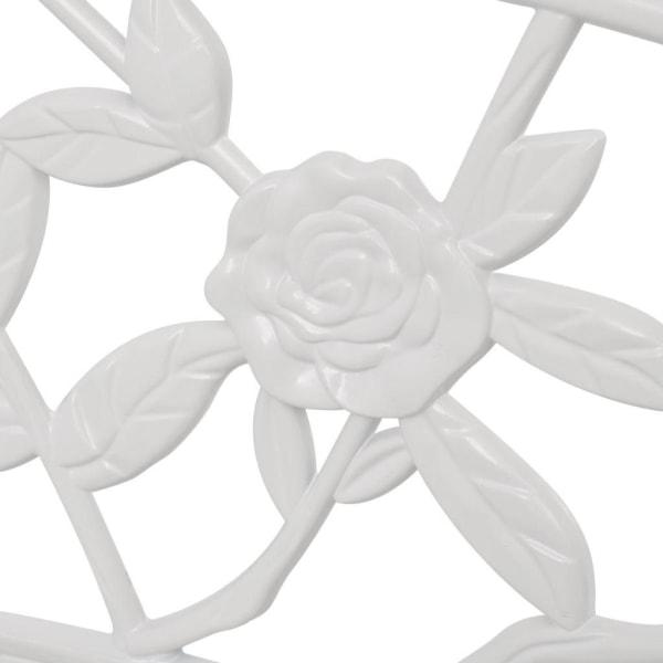 vidaXL Trädgårdsbänk 100 cm gjuten aluminium vit Vit