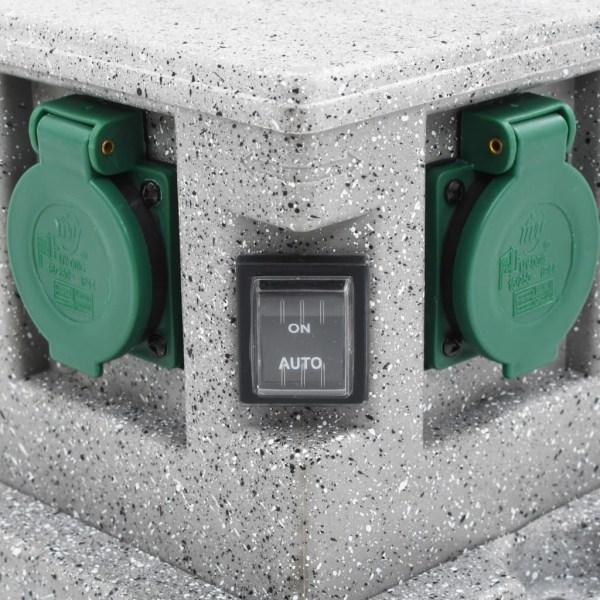 vidaXL Utomhusuttag med skymningssensor plast