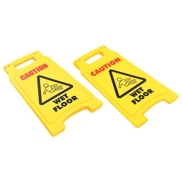 vidaXL Varningsskylt för blött golv 2 st plast 47 cm