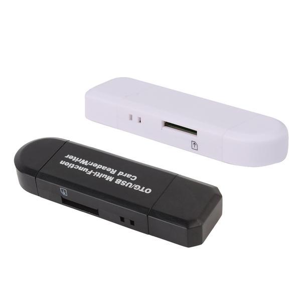 Minneskortläsare -OTG- för dator och mobil USB/Micro USB Svart