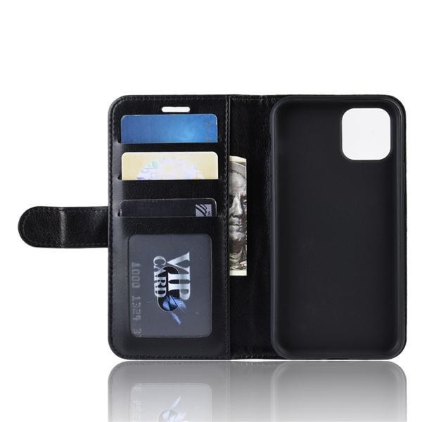 Mobilskal iPhone 11 Pro Max plånbok (Svart och Vit) Svart