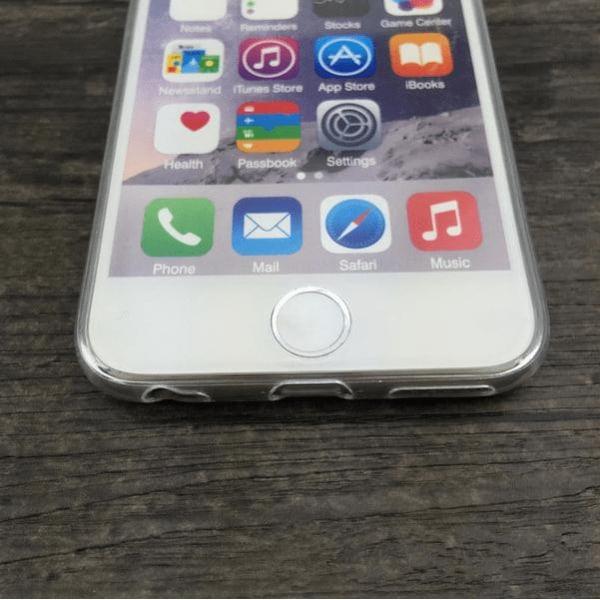 Skal iPhone 6/6S marmor marble marmorskal slimmat skydd (Vit)