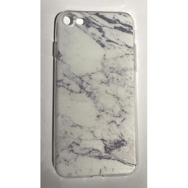 Skal iPhone 7 marmor marble marmorskal slimmat skydd (Vit)