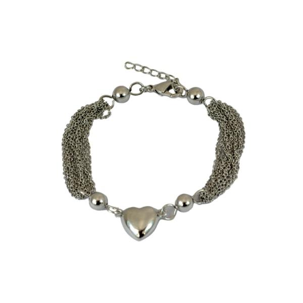 Armband med hjärta i silver - Trej