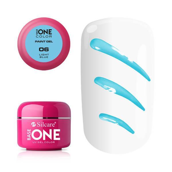 Base One - UV Gel - Paint Gel - Ljusblå - 06 - 5 gram Ljusblå