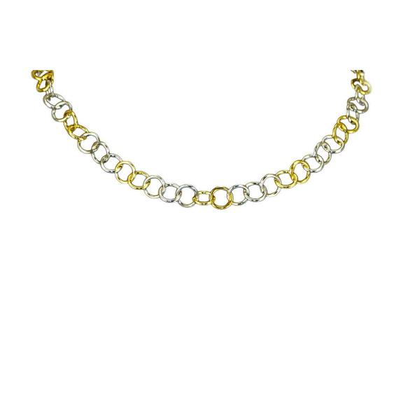 Halsband i silver & guld - Trej