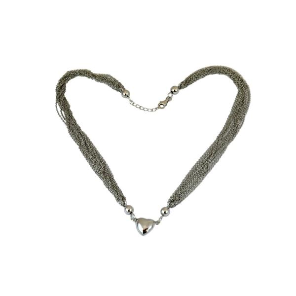 Halsband med hjärta i silver - Trej